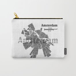 Amsterdam Map Carry-All Pouch