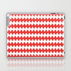 jaggered and staggered in poppy red Laptop & iPad Skin
