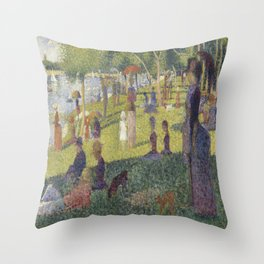 Georges Seurat's A Sunday Afternoon on the Island of La Grande Jatte Throw Pillow