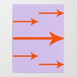 Orange You Glad I Added Arrows (Lilac/Purple Background) Poster