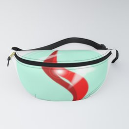 Red Glass Marble Fanny Pack