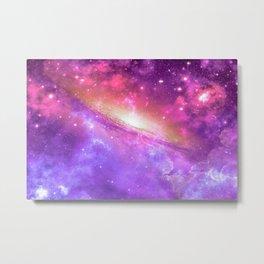 Colorful Purple Galaxy Metal Print