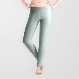 Soft Mint Green Inspired By PPG Glidden Cave Pearl PPG1145-3  Solid Color Leggings