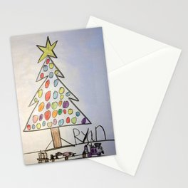 Christmas Tree Train Stationery Cards