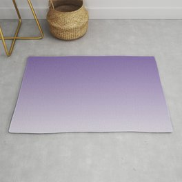 Lavender to White Rug