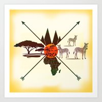 africa Art Prints featuring Africa by famenxt