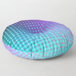 Purple Ombre Hexagon Grid Floor Pillow