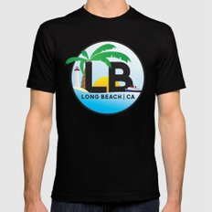 Long Beach CA Logo Design Black MEDIUM Mens Fitted Tee
