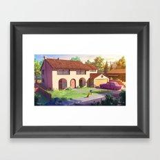 The Simpsons house Framed Art Print