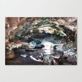 Limestone Cave Interior 2 Canvas Print