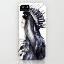 Ice Queen // Fashion Illustration iPhone Case