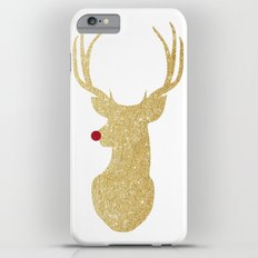 Rudolph The Red-Nosed Reindeer | Gold Glitter iPhone 6s Plus Slim Case