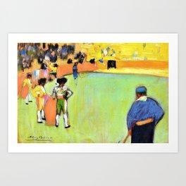 Pablo Picasso - Bullfight, Barcelona - Digital Remastered Edition Art Print