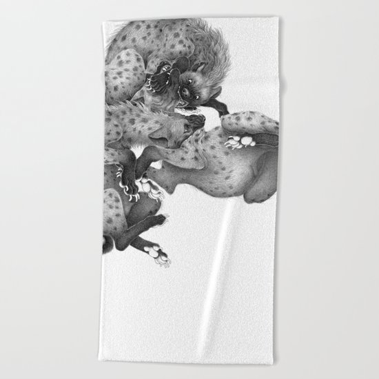 Spotted Hyenas Beach Towel