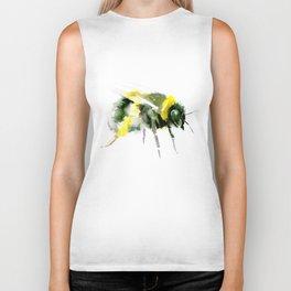 Bumblebee minimalist bee decor Biker Tank