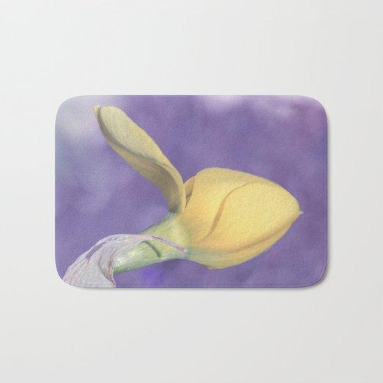 Narcissus bud Bath Mat