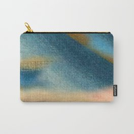Wind and Rain - acrylic abstract with pink, blue, and brown Carry-All Pouch