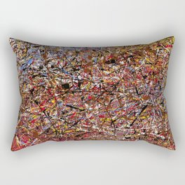 ELECTRIC 071 - Jackson Pollock style abstract design art, abstract painting Rectangular Pillow