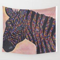 Zebra Gone Wild Wall Tapestry