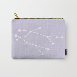 Gemini Zodiac Constellation - Lavender Carry-All Pouch