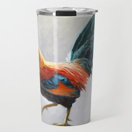 Colorful Rooster Travel Mug