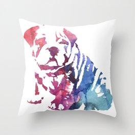 Dog paint Throw Pillow