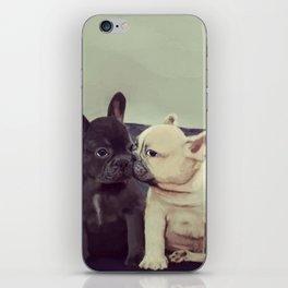 Frenchie kiss iPhone Skin