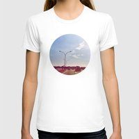 road T-shirts featuring Road by Gasoline Rainbow