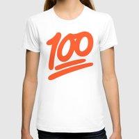 emoji T-shirts featuring 100 EMOJI by Nolan Dempsey