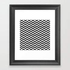 Keep Calm And Dream On (Zig Zag Chevron Black Lodge Floor, Twin Peaks) Framed Art Print