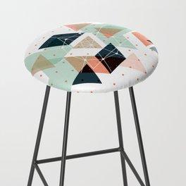 Midcentury geometric abstract nr 011 Bar Stool