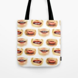 Lips with emotions Tote Bag