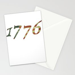 1776 Declaration of Independence US Flag T-Shirt Stationery Cards