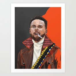 Curry, The Shooter from The Bay Art Print