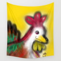 thanksgiving Wall Tapestries featuring Thanksgiving Revenge Turkey by ANoelleJay