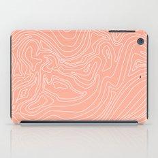 Ocean depth map - coral iPad Case