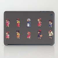 studio ghibli iPad Cases featuring Ghibli Girls by Luciana Nascimento