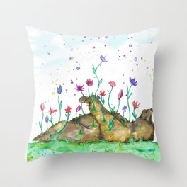 Creation of Bear Throw Pillow