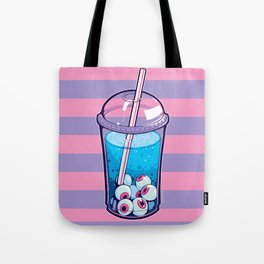 Eyeball Bubble Tea (Striped Print Version) Tote Bag