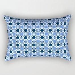 Tunnel Vision Retro Circle Pattern Rectangular Pillow