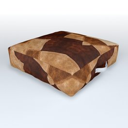 Decorated in brown Outdoor Floor Cushion