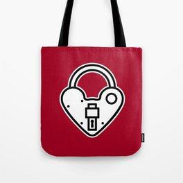 Loveheart Lock Tote Bag