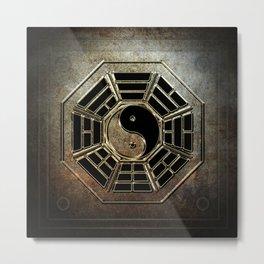 Yin Yang Bagua Metal Print