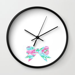 Lilly Pulitzer Bow Wall Clock
