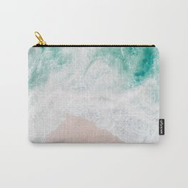 Ocean Mint Walk - Aerial Beach photography by Ingrid Beddoes Carry-All Pouch