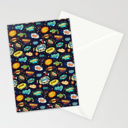 Retro Vintage Comic Book Speech Bubbles Design Stationery Cards