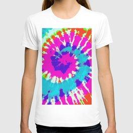 Batik Flower Power Spiral grunge T-shirt
