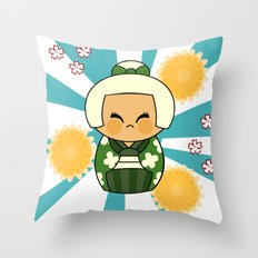 Kokeshi Hisui Throw Pillow