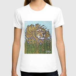 Lion in Lavender Painting T-shirt