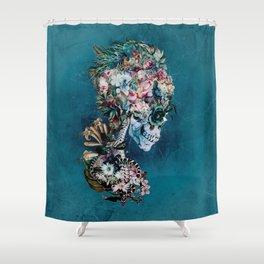 Floral Skull RP Shower Curtain